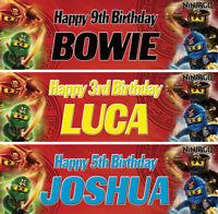 2 x personalized birthday banner lego ninja children nursery party decoration