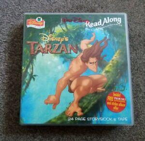 DISNEY READ ALONG STORY BOOK & CASSETTE TAPE 1999 TARZAN
