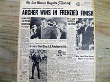 Best 1969 newspaper GEORGE ARCHER wins MASTERS GOLF CHAMPIONSHIP Weiskopf is 2nd