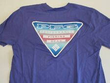 Columbia New PFG Fishing Short Sleeve Graphic T-Shirt Men's Medium Purple
