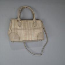 Ralph Lauren  Shopper Bag Straw Purse Leather Khaki beige shoulder