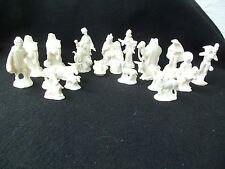 Vintage Nativity White Ceramic Set!  SMALL!  21 PIECES!  1979  HAND CRAFTED MOLD