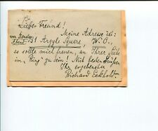 Richard Eckhold Classical Conductor Opera Signed Autograph Note