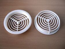 VIVARIUM insect 70mm White HiGH FLOW air soffit  VENTS only **£1.85 per PAIR**