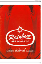 Rainbow Art Glass catalog reprints, 1969-1972