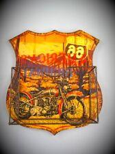 Route 66 Wandschild Eisen Korb Angebot farbig Vintage Geschenk Wanddeko Dekokorb