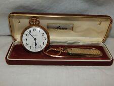 Antq. 1912 Hamilton Gold Filled 992 Pocket Watch #868312 & Watch Fob Anvil Knife