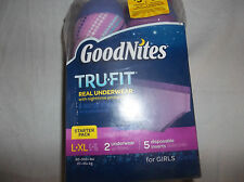 GoodNites Tru-Fit Real Underwear Nighttime Protection Starter Pack  Girls S-M