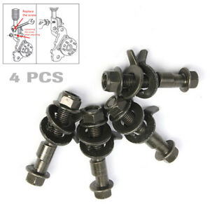 4 Pieces Steel Car Four Wheel Alignment Adjustable Camber Bolts 10.9 Intensity