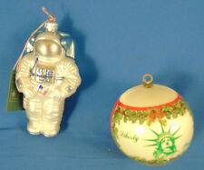 Christmas Tree ornaments Lady Liberty & USA Spaceman made in Poland holiday art