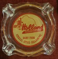 Vintage Advertising  Ashtray -  Holland Dairy Foods