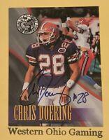 1996 Press Pass Chris Doering Rookie RC Auto Autograph
