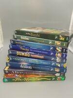 Lot of 9 Walt Disney DVDs Preown classics Dumbo Bambi Snow White Alice Pinocchio