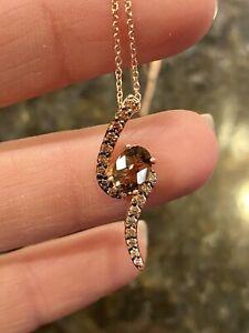 Le Vian 14krg Smoky Quartz Chocolate Diamond Pendant Kays $1199 Retail