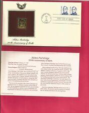 22kt Golden Replica Stamp - Alden Partridge - 1985 FDC / FDI