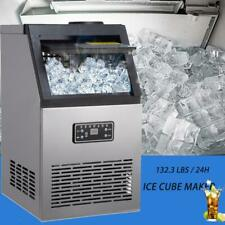 More details for commercial ice maker 60/70/80kg/24hr stainless steel machine auto free ice scoop