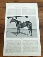 "1896 racing illustrated print "" racing in australia & cydnus and resolute """