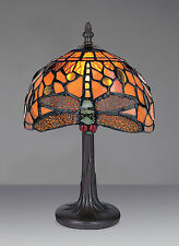 MISSION TIFFANY STYLE UNIQUE STAINED GLASS DESK TABLE LAMP - 8.26'' WIDE