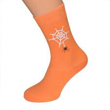Halloween Spider in His Creepy Web Socks Mens UK 6-12 - X6N227