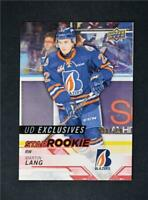 2018-19 UD Upper Deck CHL Star Rookies Exclusives #308 Martin Lang /100
