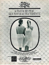 PUBLICITE ADVERTISING 084  1965  CIDENYL  lingerie jupons fonds de robe