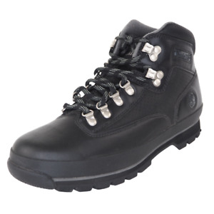 Timberland Euro Hiker Mens Boots Black 56005 Leather Waterproof Outdoors SZ 10