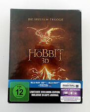 The Hobbit Trilogy SteelBook Limited Edition Box Set Blu-ray 3D Bilbo's Journal