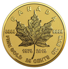 Canada 2019 25 Cent 40th Anniversary of the Gold Maple Leaf Pure Gold Coin 0.5g