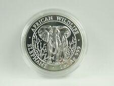 *** 1000 chelines moneda de plata somalia 2004 African Wildlife Elephant elefante *