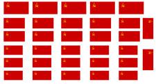 Banderas ruso soviético 1:72 Segunda Guerra Mundial en lona de algodón 100%. modelo/Diorama Militar