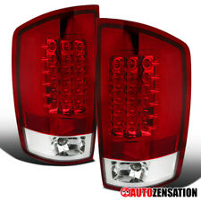 For 2002-2006 Dodge Ram 1500 2500 3500 Red Full LED Tail Lights Brake Lamps