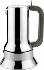 Alessi Espresso Coffee Maker 9090 by Richard Sapper, 6 Cup, Stainless Steel