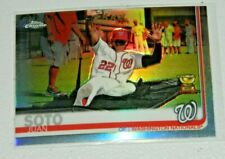 Juan Soto 2019 Topps Chrome Refractor Photo Variation SP Card Nationals