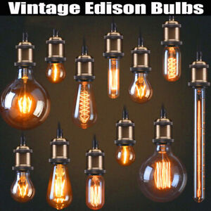 Vintage Edison Dimmable Bulb E27 Retro Incandescent Light Filament Lamp Bulb