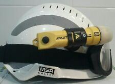 🌟HELMET MSA GALLET F2 XTREM MSA WHITE+ GLASS BOLLÉ + FLASHLIGHT
