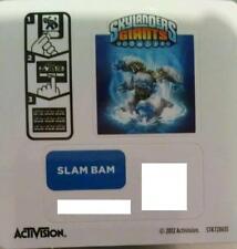 Slam Bam Skylanders Giants Sticker/Code Only!