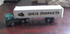 Vintage 1970s Yatming Weis Tractor Trailer Truck HO Scale Diecast LOOK