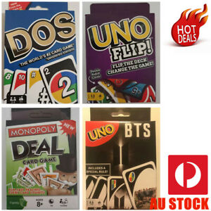 CARD GAME: DOS CARD, UNO FLIP, MONOPOLY DEAL, UNO BTS K-Pop Music Dance AU STOCK