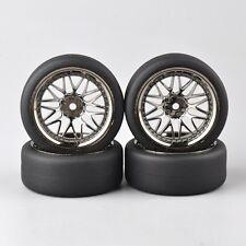 Chrome Wheel  Tire Tyre For 1/10 RC  On Road Drift Car PP0338-BBSM 4pcs