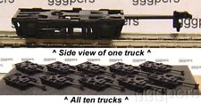 HO Train Rivarossi 10 Commonwealth Trucks W/coupler BL