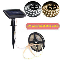 5m/16.4ft Waterproof Solar LED Strip Light Christmas Xmas Outdoor Garden Decor