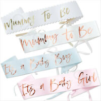 Oh Baby Shower Sashes Party Accessories Mummy to Be, Baby Boy & Baby Girl Sash