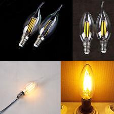 E14 2w estilo vintage y retro filamento Edison COB LED bombilla de vela LUZ LÁMPARA 240V 2700k