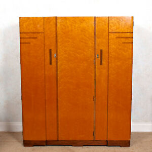 Art Deco Wardrobe Birdseye Maple Compactum Armoire Vintage