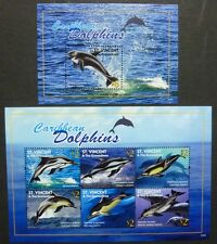 ST. VINCENT 2011 Delphine Dolphins Meeressäuger 6906-6911 + Bl.708 ** MNH