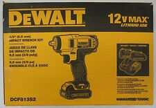"DeWalt #DCF813S2: 12v 3/8"" Impact Wrench Kit"