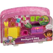 Dora Playtime Together BACKYARD BBQ Premium Dollhouse Room with Lights & Sounds!