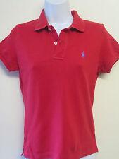 Genuine Vintage Ralph Lauren POLO Red Short Sleeved Polo Shirt UK 8 Euro 36