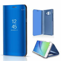 For Huawei Honor & Ascend Clear View Mirror Leather Flip Stand SMART Case Cover