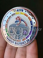 D36 NYPD TRANSIT DISTRICT 20 Spiderman Mets World Series Challenge Coin